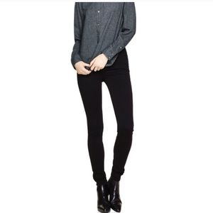 Aritzia the Castings black mid rise jeggings 24